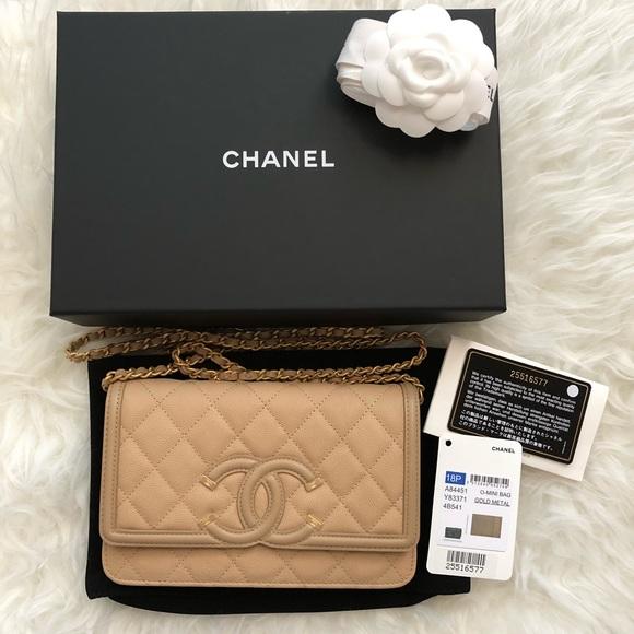 64673a2b908148 CHANEL Bags | Beige Caviar Filigree Wallet On Chain Woc | Poshmark